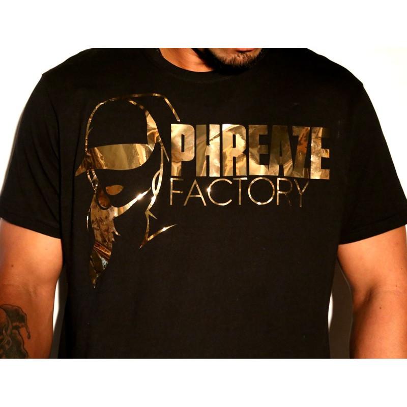 PF Mirror Gold Tee-L-Black