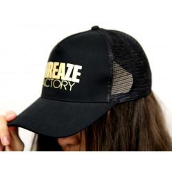 Black Metallic Gold Snap Back Cap