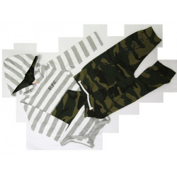 PFC Baby Camo Onesie Hood with Matching Pants