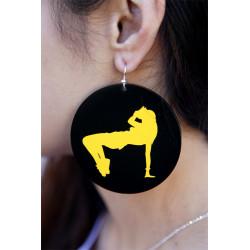 Bgirl Print Earrings