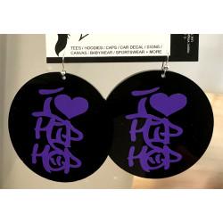 I Heart Hip Hop Earrings